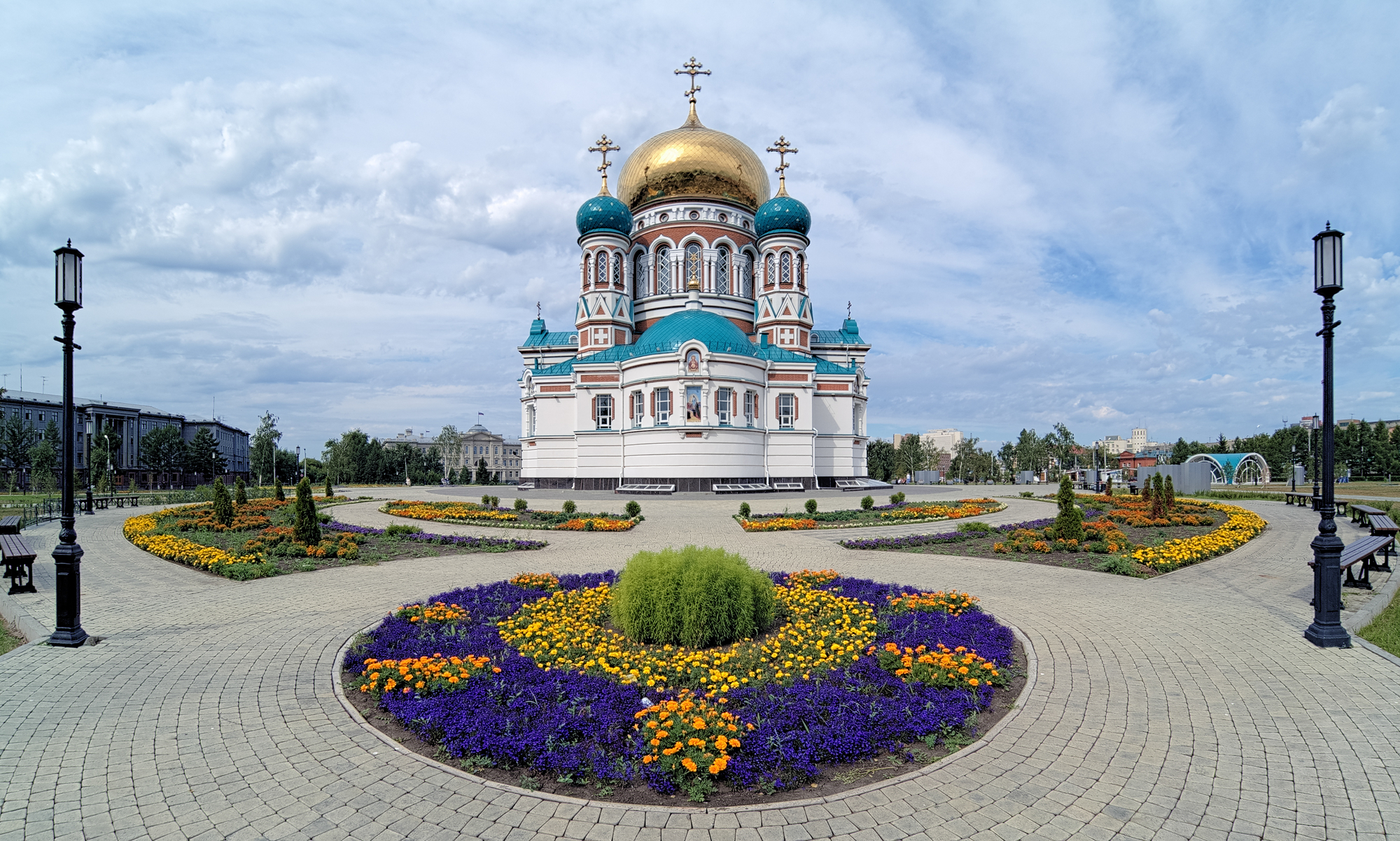 Uspensky Cathedral in Omsk, Russia